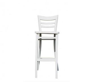 כיסא בר גבוה עץ לבן (לא מתקפל)