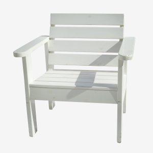 ספסל גינה יחיד צבע לבן