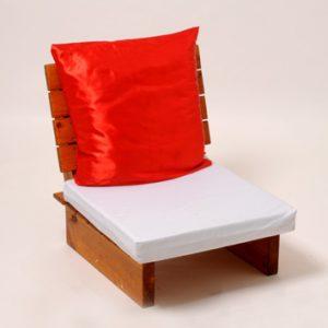 ספסל פוטון יחיד מעץ + מזרן + כרית