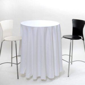 כיסא בר לבן רגל ניקל