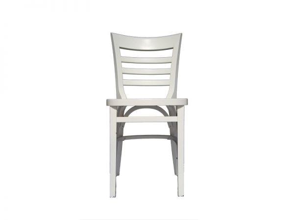 כיסא בית קפה עץ לבן דגם שקד
