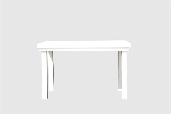 שולחן 1.20*0.80 עץ מלא לבן