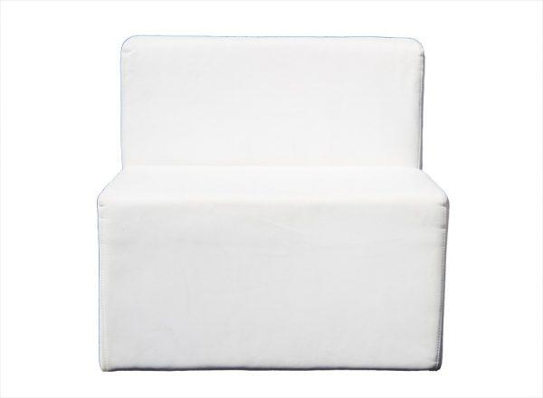 ספת סקאי יחיד לבנה