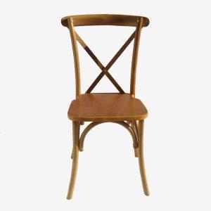 כיסא עץ צבע טבעי x בגב