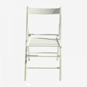 כיסא עץ שמנת ללא ריפוד (חדש)