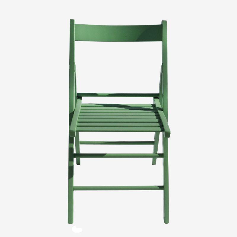 כיסא עץ צבע ירוק