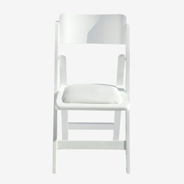 כיסא עץ לבן תאילנדי