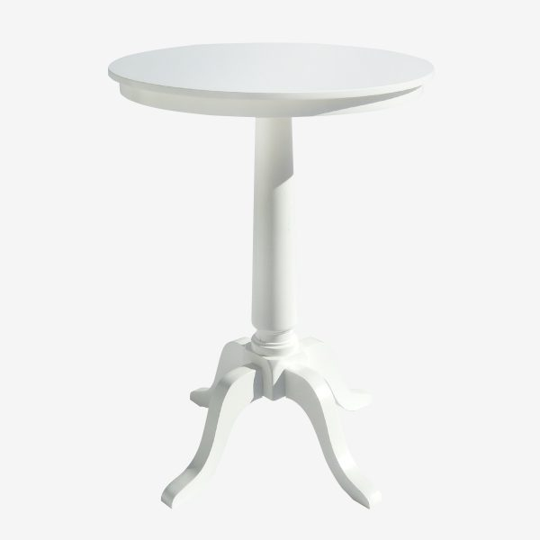 שולחן בר/ בית קפה עגול 0.80 רגל מפוסלת