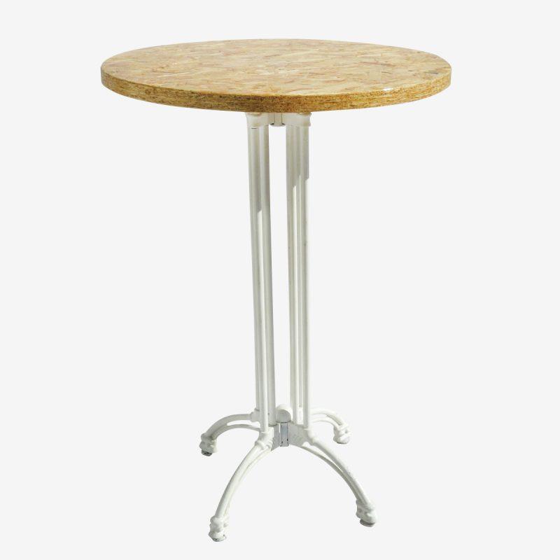 שולחן בר עגול 0.80 טבעי רגל מפורזלת