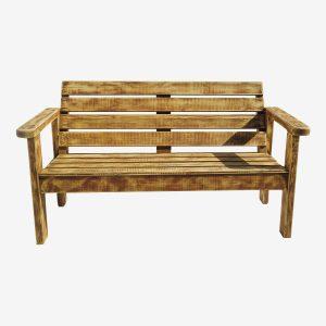 ספסל גינה צבע עץ זוגי
