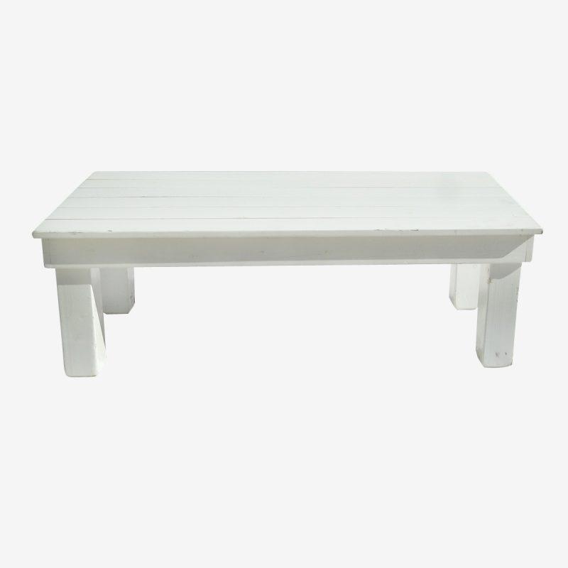 שולחן גינה עץ לבן