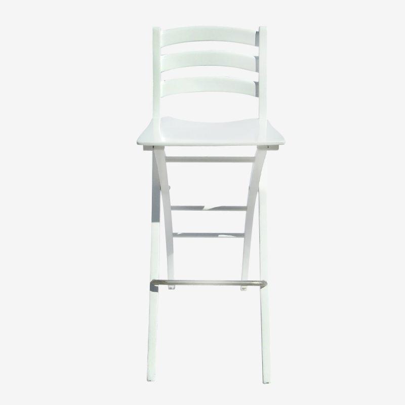 כיסא בר לבן מתקפל