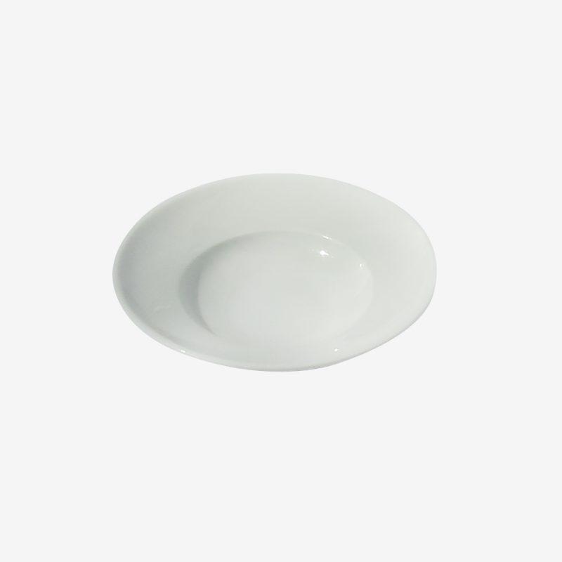 """צלחת פסטה 13 ס""""מ - לבן"""