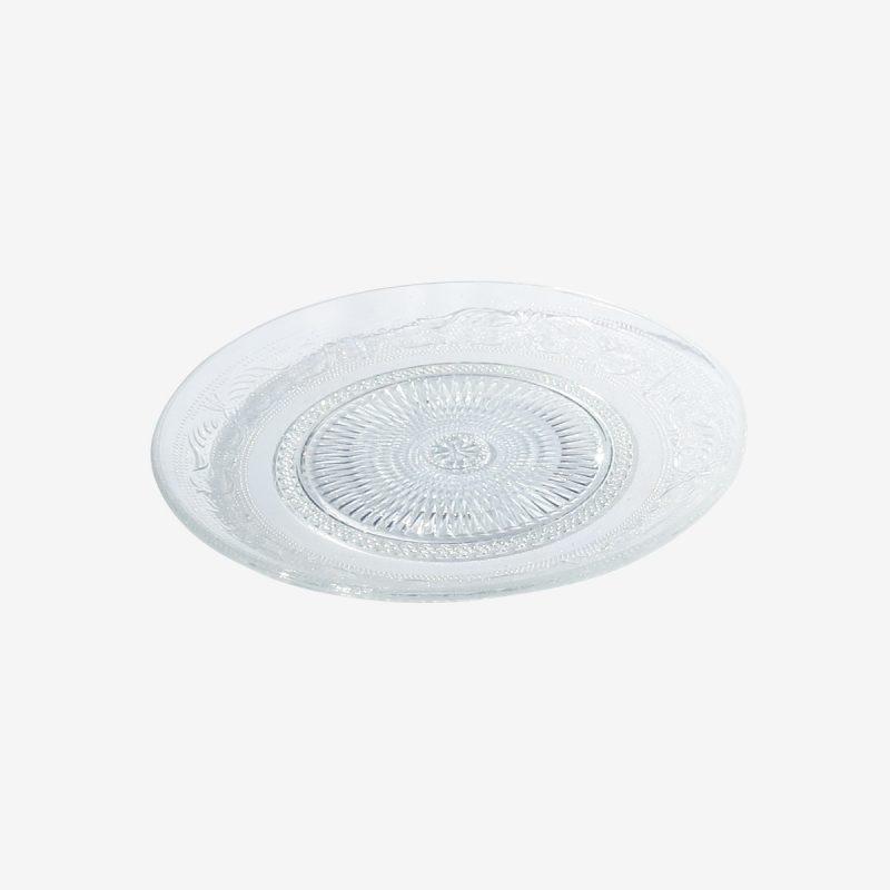 צלחת עגולה זכוכית רטרו קוטר 20