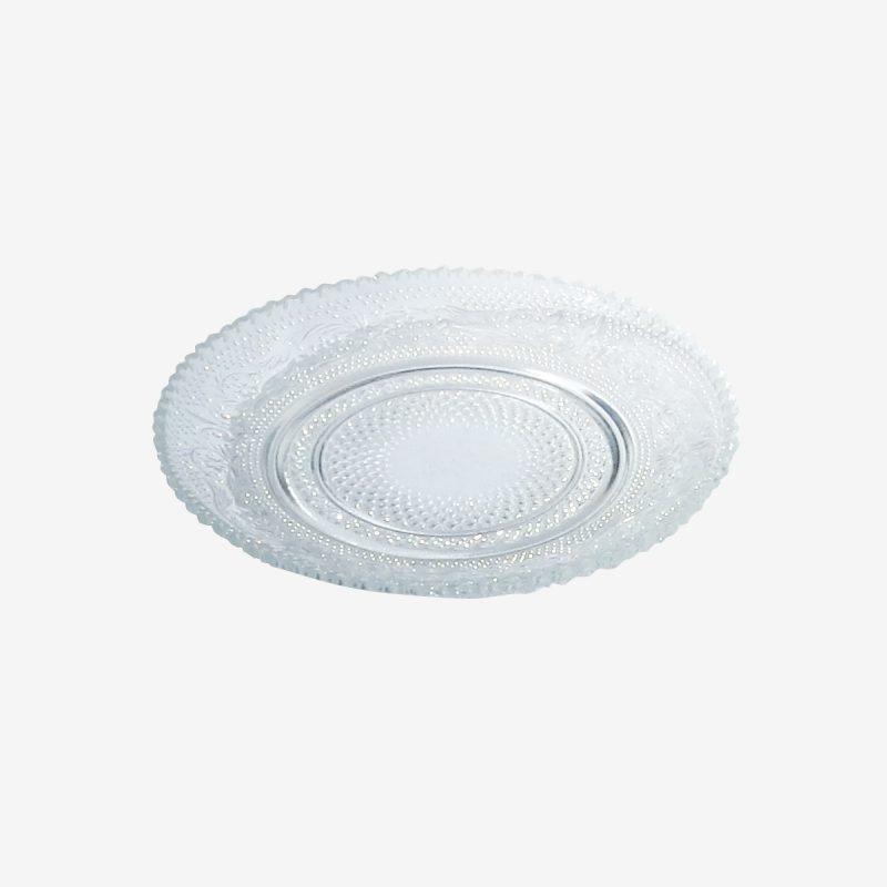 צלחת עגולה זכוכית רטרו קוטר 15