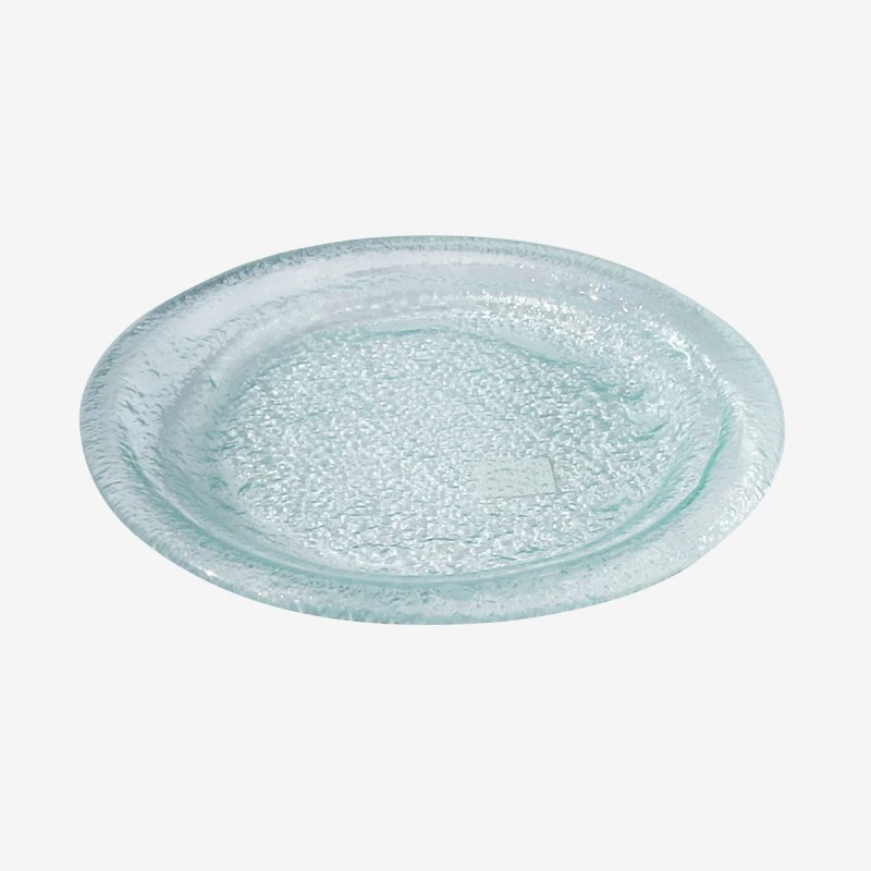 צלחת זכוכית לחומוס קוטר 21
