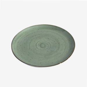 צלחת צבעונית 27 ריבלין ירוק כהה