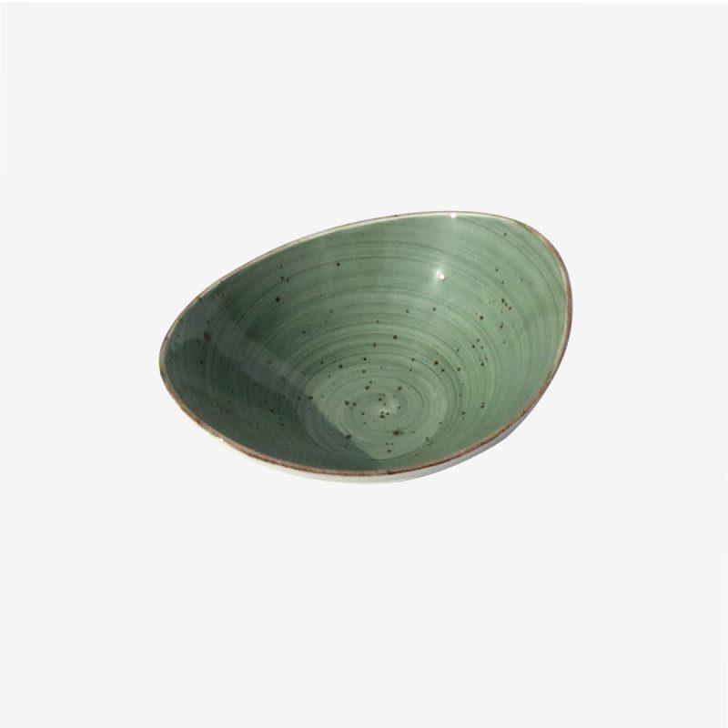 קערית אובלי 18 ריבלין ירוק כהה