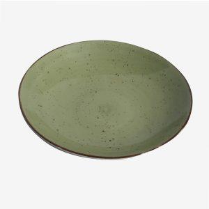 צלחת הגשה 24.5 ריבלין ירוק בהיר