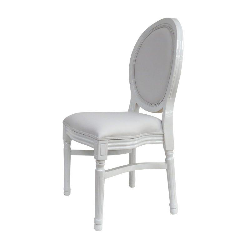 כיסא ונציה לבן