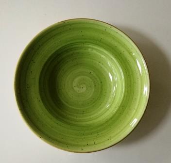 צלחת פסטה ירוקה