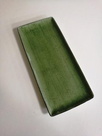 פלטה מלבנית 16X36.5 ירוק כהה ריבלין