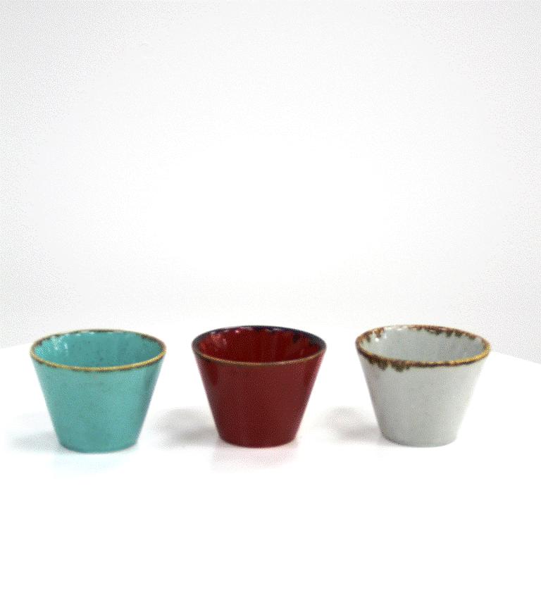 כוס קינוחים צבעונית