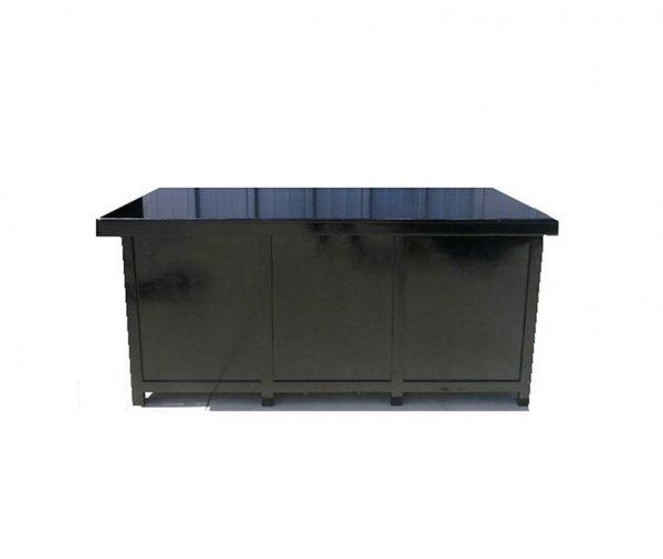 בוצ'ר (שולחן מזנון) שחור 1.90/90 סגור