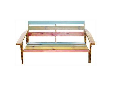 ספסל צבעוני זוגי